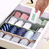Flipzon Multipurpose Storage Drawer Socks Undergarments Organizer Set of 4, Plastic, (Colour May Vary)