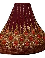 Nueva falda larga gitana india del cequi del Hippie del indio de las señoras hermosas del diseño | Faldas de la danza del vientre | Mundo de los bailarines (marrón)