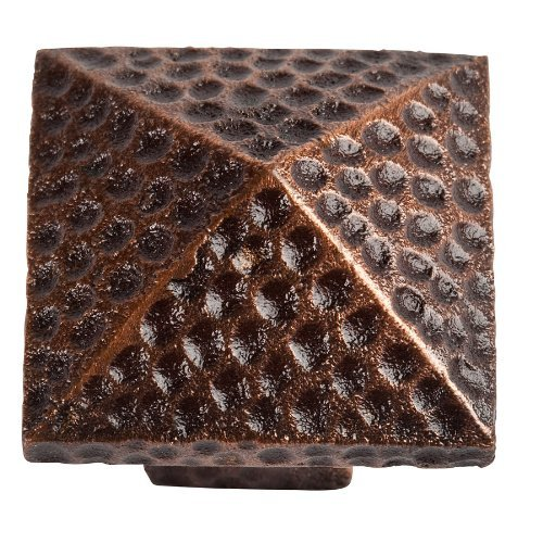 The Copper Factory CF110AN Solid Cast Copper Large Pyramid Knob, Antique Copper by The Copper Factory - Antique Copper Knob