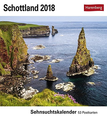 Preisvergleich Produktbild Schottland - Kalender 2018: Sehnsuchtskalender, 53 Postkarten