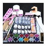 Nail Art Nagellack Set, Transer® Komplettes Nail Art Beauty Set Professionell Acryl Pulver Glitzer Nägel Pinsel falsche Fingernägel