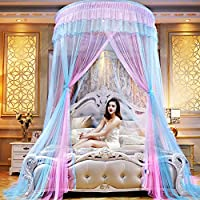 GE&YOBBY Princess Bed Canopy,double Color Hope Polyester Sheer Mesh Bed Curtains Dome Bedding Mosquito Net For Twin Full Queen King Size Bed-b 47inch