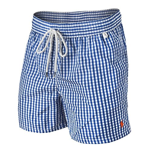Ralph Lauren Gingham Shorts de Bain (M, Bleu)