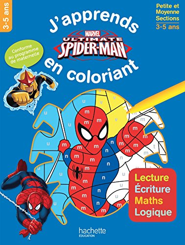 Spiderman J'apprends tout en coloriant PS-MS