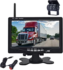 Podofo 7 Zoll Wireless Rückfahrkamera 18 Lichter Elektronik