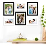 Art Street Set of 6 Black & White Wall Photo Frame, Picture Frame for Home Decor with Free Hanging Accessories-Size-6x8…
