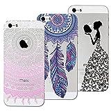 Yokata 3X Coques pour iPhone 5S iPhone Se iPhone 5 Silicone Souple Étui Transparent...