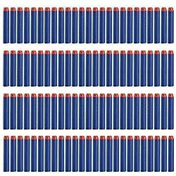 Fléchettes Nerf, NaiseCore 100 pcs Mousse Fléchettes Recharge Balle de Nerf pr N-STRIKE ELITE Blasters Pistolet Jouet Darts Refill Bullet pour Toy Gun Bleu