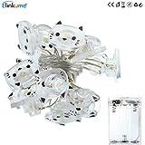 String Light, ELINKUME 20LEDs Lovely Cat Warm White Battery Power Fairy Light Easy Installment for Indoor/Wedding…