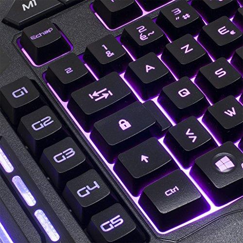 SPIRIT OF GAMER Clavier Gaming Elite K20 Semi Mécanique / 26 Touches Anti-Ghosting / 3 Profils de 5 Macros/Rétro-éclairage 7 Couleurs/Mode Y... 5