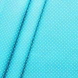 Baumwollstoff beschichtet Punkte Stoff Meterware Türkis-Blau