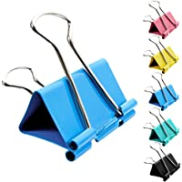 Large Foldback Bulldog Clips Assorted Colour Clamps Clips 41mm 51mm Binder Clips 30PCS