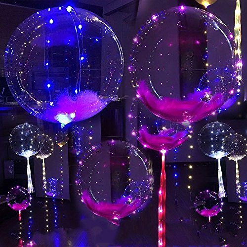 18 inch 10 PCS Led Balloon Flashing Lights For Halloween /Christmas Party Decor -Lasts 72 hours (Halloween Dekoration Sprengen)