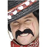 Smiffy's - Mexikanerbart klassischer Bart Mexikaner braun selbstklebend Schnäuzer