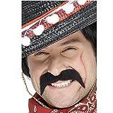 Smiffys - Mexikanerbart klassischer Bart Mexikaner braun selbstklebend Schnäuzer