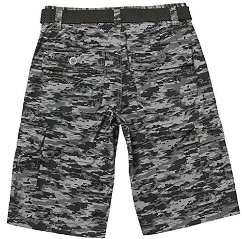 LEVI'S Shorts für Jungen kurze Hose Sommer camoflage Tarnfarbe Bermuda Cargo (8 Jahre, grau/schwarz) -