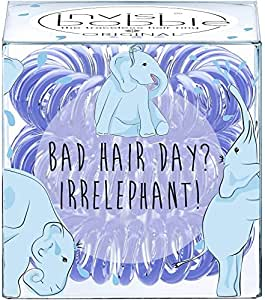 invisibobble Circus Collection ORIGNAL Bad Hair Day Irrelephant, 1er Pack (1 x 3 Stück)