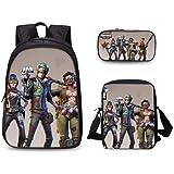 3PCS /set student Printed Game Fortnite Backpack School Bags For Girls and boys Travel Students nylon School Shoulder Bag Bac