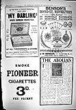Piano 1900 Éolien Pionnier de Benson Orchestrelle de Cigarettes Chéries de Publicité