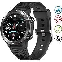 UMIDIGI Smartwatch Uwatch GT Fitness Tracker Armbanduhr Sportuhr Smart Watch für Damen Herren mit Herzfrequenz Schlaftracker 5 ATM Wasserdicht Kompatibel mit Android IOS Xiaomi Samsung, Schwarz