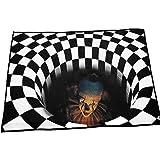 Halloween dörrmatta Non-Slip 3D Trap Visual Welcome Floor Rug ingång matta 40x60cm