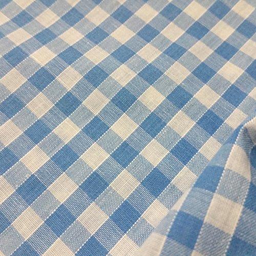 Discover Direct Sky Blue & Weiß Gingham Stoff Polyester und Baumwolle 1/10,2cm Check-114,3cm breit, Meterware, -