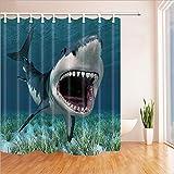 XYYN 180cmX180cm Digital Drucken Wasserdicht und Mildewproof Duschvorhang Größe 180 * 180 Zebra Polyester Fabric Bad Duschvorhang mit Haken Naturserie 71x71 Zoll , 004 , 180*180cm