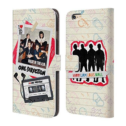Offizielle One Direction Sofa Harry Made In The A.m. Brieftasche Handyhülle aus Leder für Apple iPhone 5 / 5s / SE Kassette 1