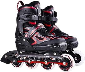 MLSS LI Rollerblade Skates Erwachsene Roller Schuhe Kinder Jungen und Mädchen Anfänger Skates Glatt Einstellbar Schuh Einzelnen Blitzschuh