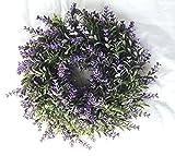 Blumenkranz Türkranz Kranz Lavendel