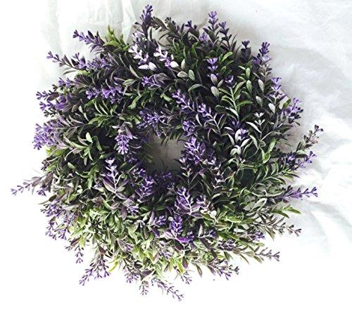 Blumenkranz Türkranz Kranz Lavendel lila grün Ø 30 cm Blumen Blütenkranz zum hängen toller Hingucker für das ganze Jahr •Dekokranz