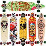 Skateboard Longboard Maronad, Drop Through Race Cruiser, ABEC 11, 104 x 24 cm, pour du skate de rue fun, GCP-V6000, Modèle Cruiser - Aruba, 41x9,5 Zoll