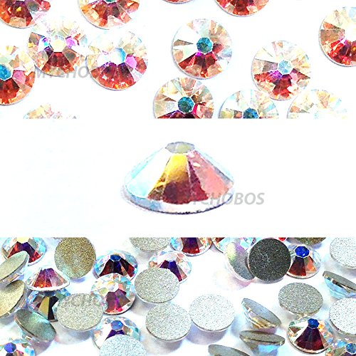 2058 Crystal (Unbekannt Swarovski 2058Vereitelt flatbacks SS5Crystal AB 10Gross (1440) No Hotfix Strass Factory Pack)