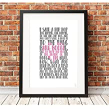 A3 THE SUGARHILL GANG - Rapper's Delight typography poster art limited edition print old school rap hip hop