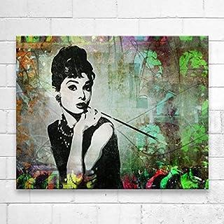Kunstbruder Audrey Collage (Div. Grössen) Wandbild 3D 4cm - Kunst Druck auf Leinwand 80x100cm