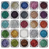 Shree Ram Professional Eye Care Thick Shimmer Glitter for Beauty Queen-Pack of 12