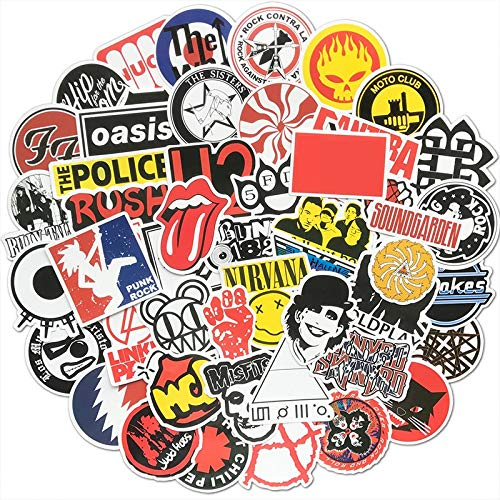 Rock Band Stickers Music Graffiti JDM Waterproof Sticker Pack for Skateboard Gepäck ()