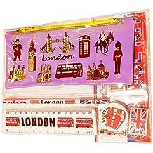 # 1Bestselling All In One Kit scuola–Londra Souvenir–Penna/matita caso, temperamatite,