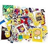 Los Simpsons Pegatinas para Laptop Bicicleta Teléfono Patinetas Equipaje Car Styling DIY Calcomanías Graffiti Decorativo Juguete Etiqueta 50 unids