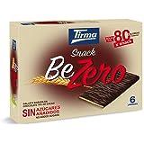 Tirma Snack Be-Zero Galleta Bañada en Chocolate 70% Cacao, Sin Azúcares Añadidos - 1 paquete x 6 unidades de 17.5g