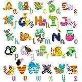 homeevolution großem abnehmbaren Educational Animal Alphabet Kinderzimmer Abziehen und Aufkleben ABC Wandtattoo Arts Decor