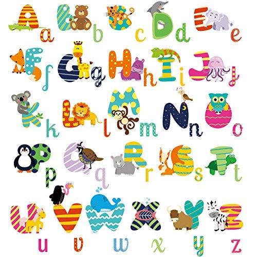 HomeEvolution - Adhesivo decorativo para pared (tamaño grande, extraíble), diseño de alfabeto