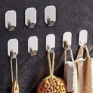 Adhesive Hooks Heavy Duty, NEXCURIO Wall Hooks 304 Stainless Steel Waterproof Hanger for Towel/Bath Sponge/Han