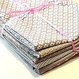 Baumwoll Stoffpaket Daisy/Star/Flower/Dot/Stripe - 5 x 0,5