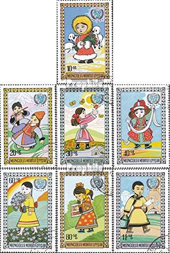 Prophila Collection Mongolei 1073-1079 (kompl.Ausg.) 1977 Tag des Kindes (Briefmarken für Sammler)