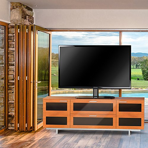 fitueyes meuble t l pied support tv pivotant pour t l led ecran pc de 32 pouce 65 pouce avec. Black Bedroom Furniture Sets. Home Design Ideas