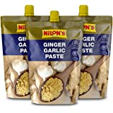 NILON'S Ginger Garlic Paste Spout - 200 g (Pack of 3) | Add Fresh Flavours to Your Dishes