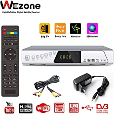 Wezone 8785 Digital Video Broadcasting Satellite TV Receiver Set Top Box 1080 Full HD Support PVR Playback USB Storage WiFi