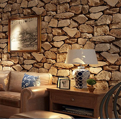 H M Papel pintado PVC retro 3D estéreo imitación piedra textura papel  pintado decoración dormitorio TV pared 4981fdaeb2f