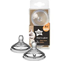 Tommee Tippee Closer to Nature Fast Flow Teats Transparent x 2